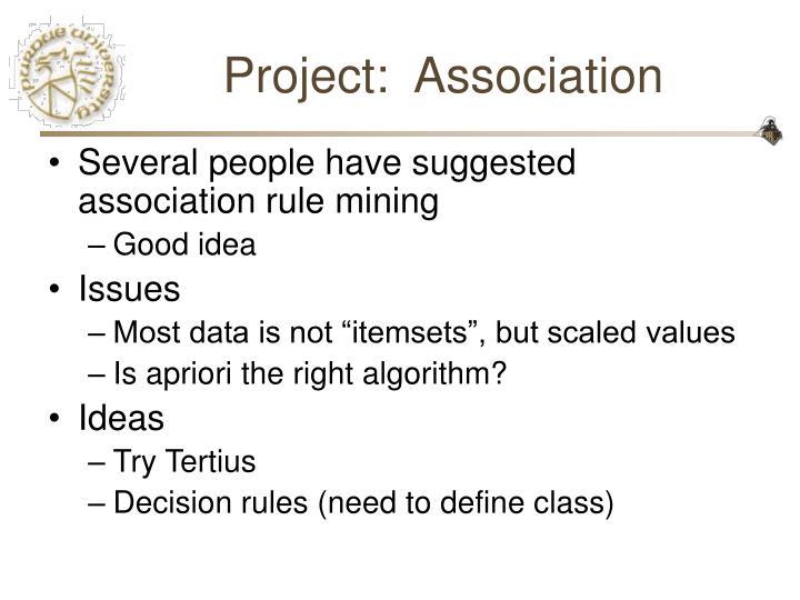 Project:  Association