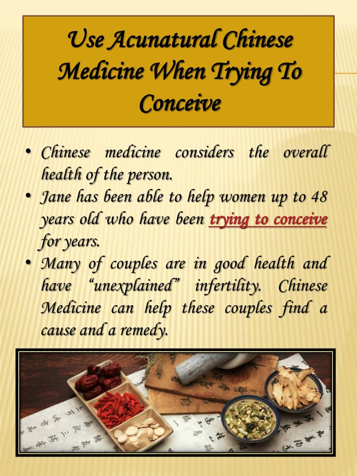 Use Acunatural Chinese Medicine When Trying To Conceive