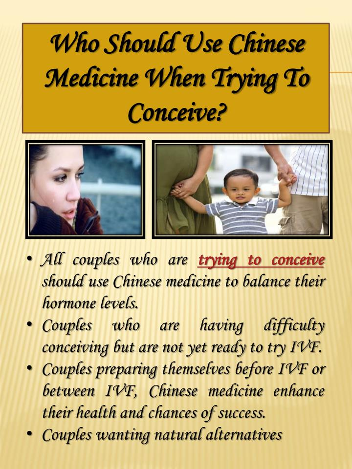 Who Should Use Chinese Medicine When Trying To Conceive?