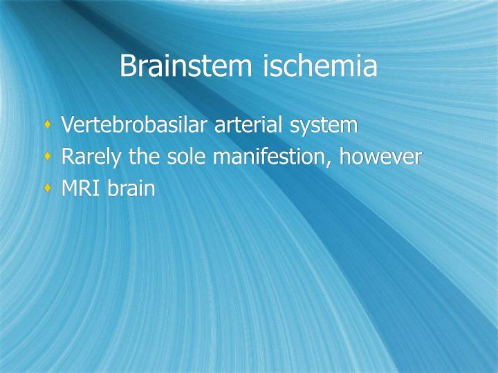 Brainstem ischemia