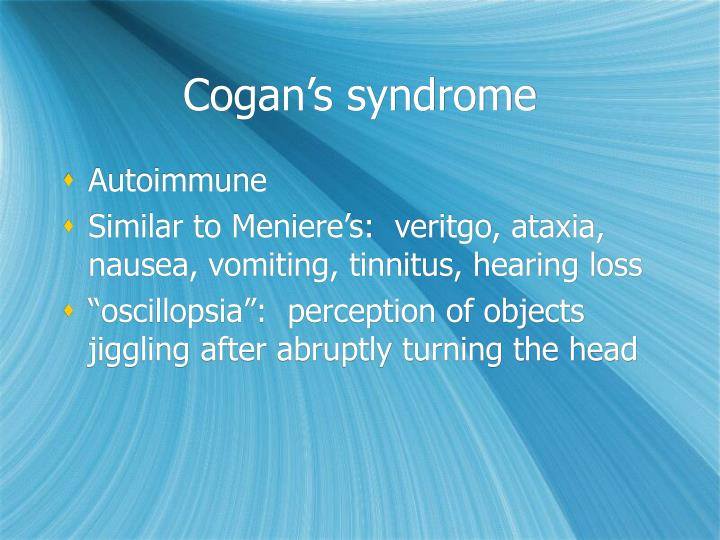 Cogan's syndrome