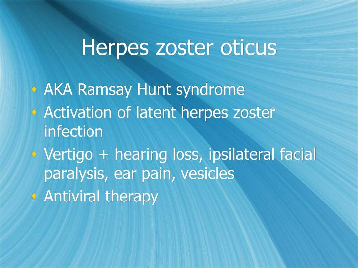 Herpes zoster oticus
