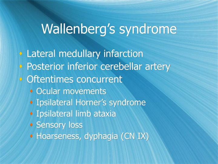 Wallenberg's syndrome