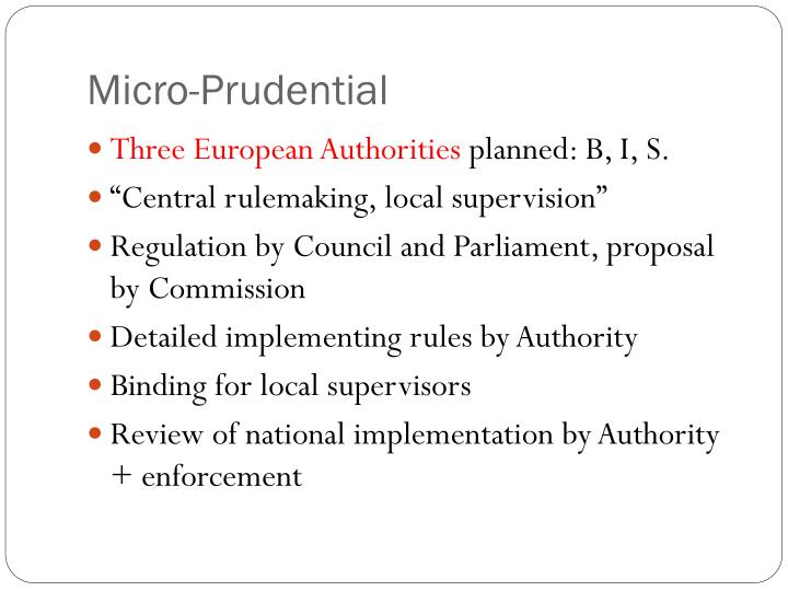Micro-Prudential