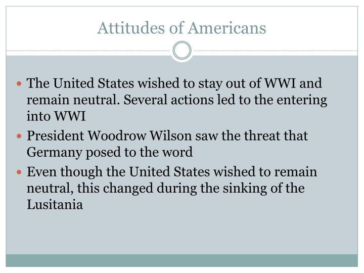 Attitudes of Americans