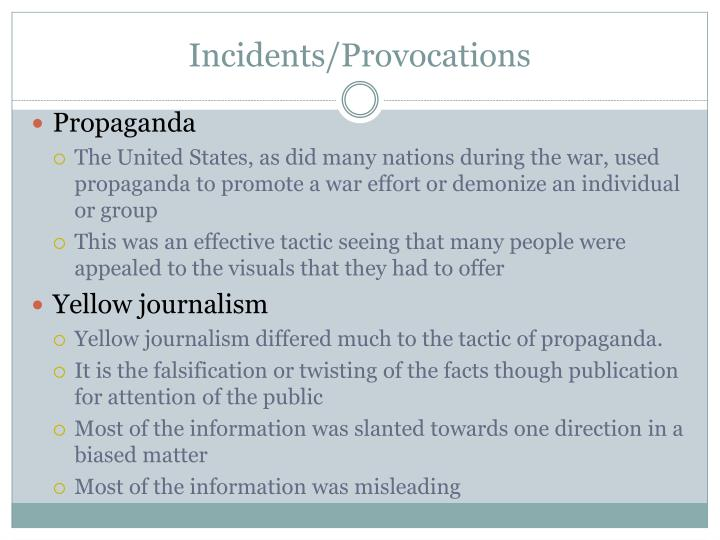 Incidents/Provocations
