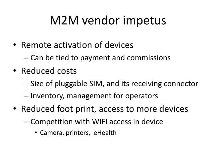 M2M vendor impetus