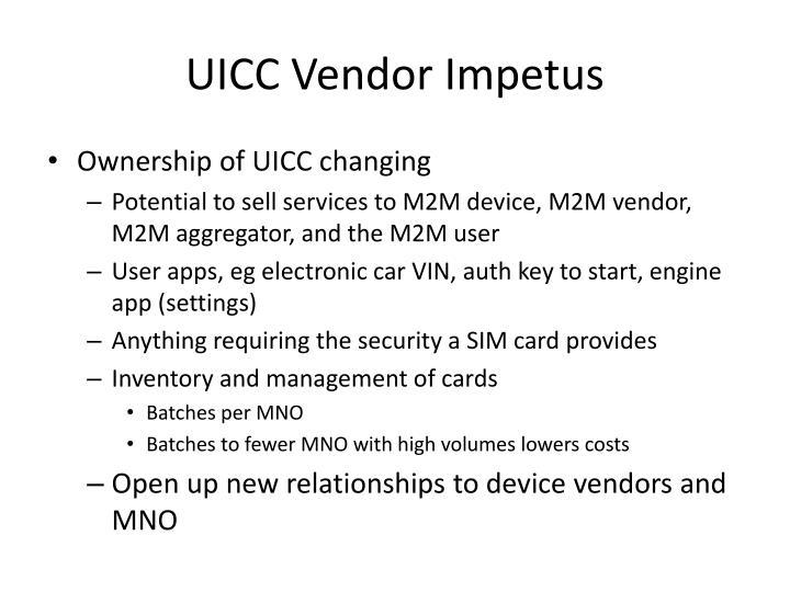 UICC Vendor Impetus