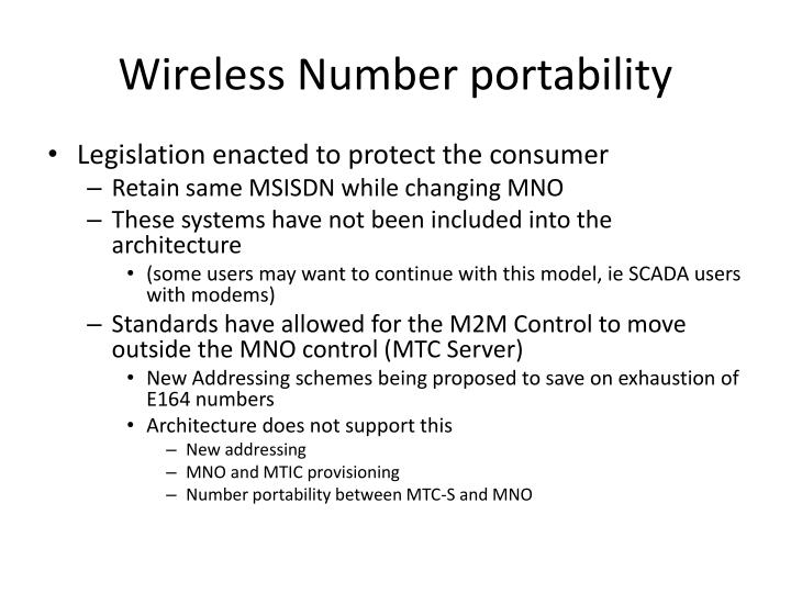 Wireless Number portability