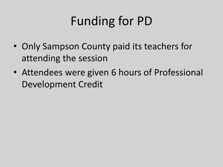 Funding for PD