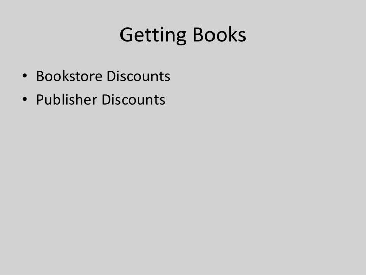 Getting Books