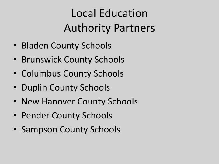 Local education authority partners