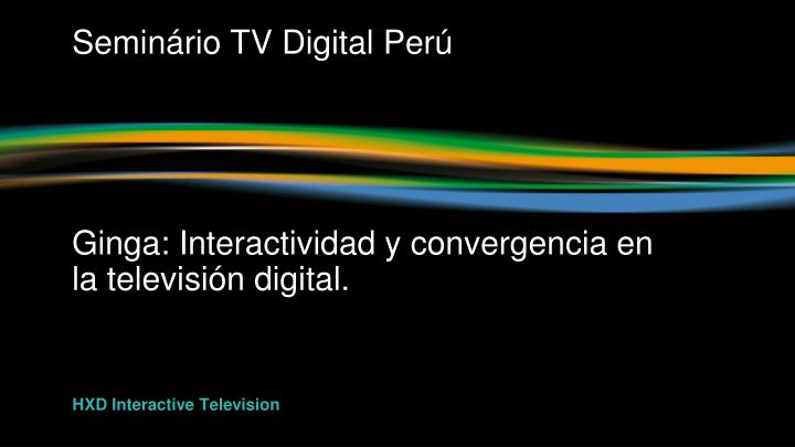 HXD Interactive Television