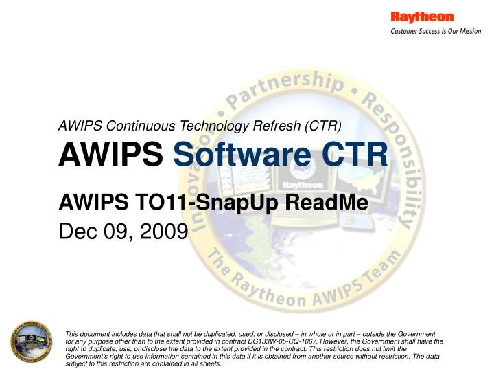 Awips continuous technology refresh ctr awips software ctr