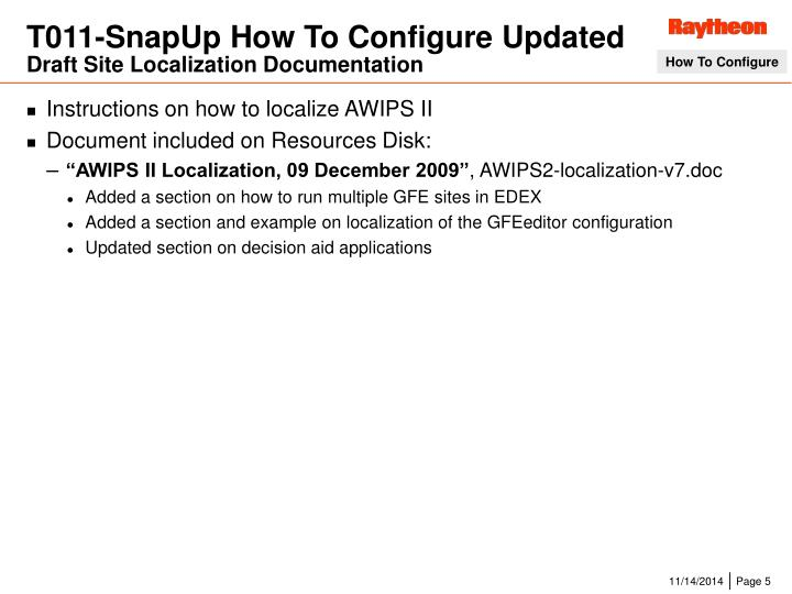 T011-SnapUp How To Configure Updated
