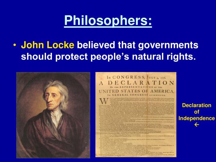 Philosophers:
