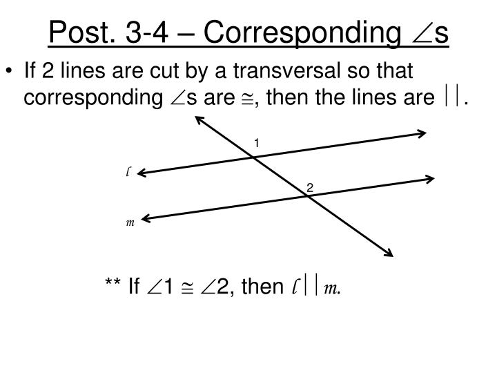 Post. 3-4 – Corresponding