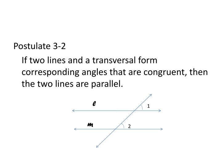 Postulate 3-2