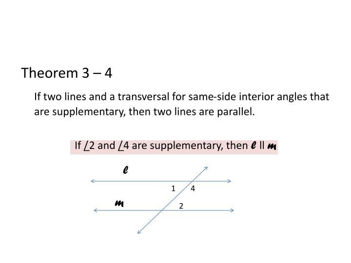 Theorem 3 – 4