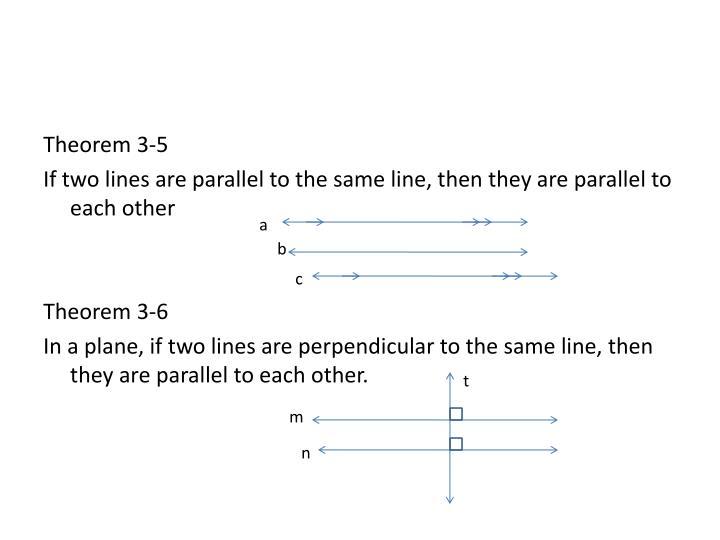 Theorem 3-5