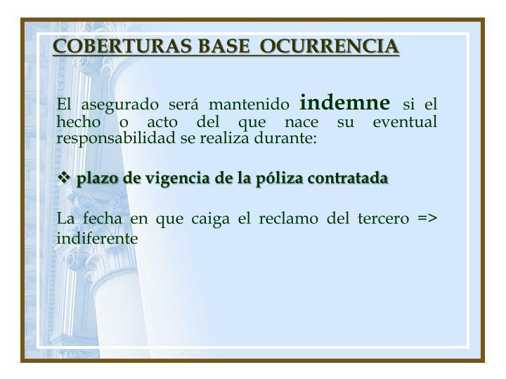 COBERTURAS BASE  OCURRENCIA