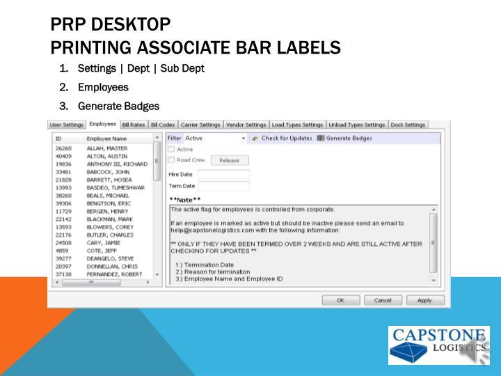 PRP Desktop