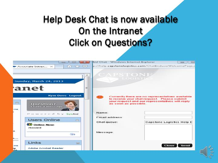 Help Desk Chat is now available