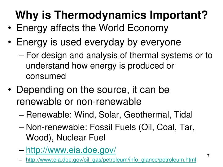 Why is Thermodynamics Important?