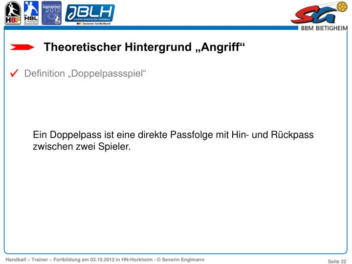 """Theoretischer Hintergrund """"Angriff"""""""