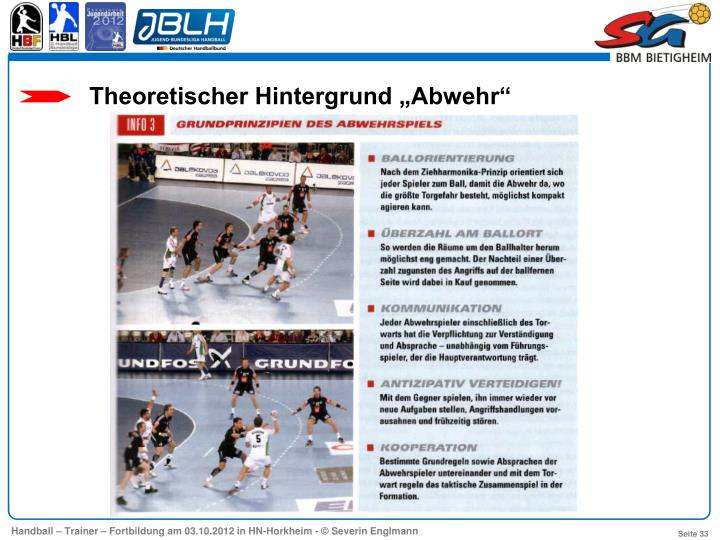 """Theoretischer Hintergrund """"Abwehr"""""""