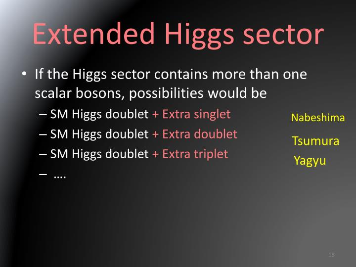 Extended Higgs
