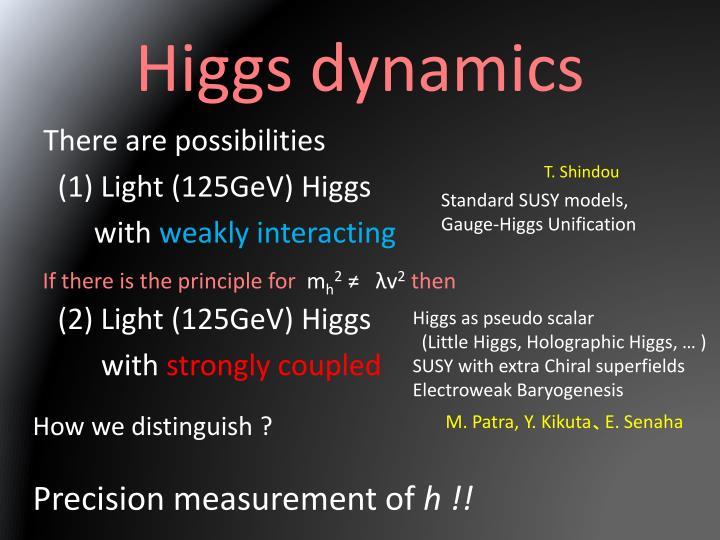 Higgs dynamics