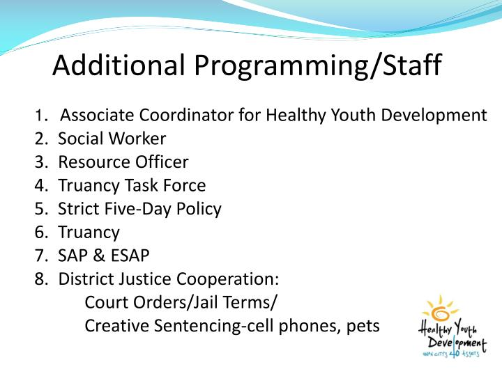 Additional Programming/Staff