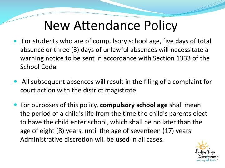 New Attendance Policy