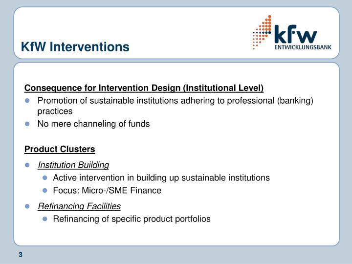 Kfw interventions