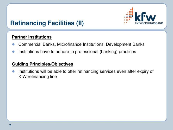 Refinancing Facilities (II)