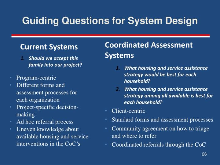 Guiding Questions for System Design