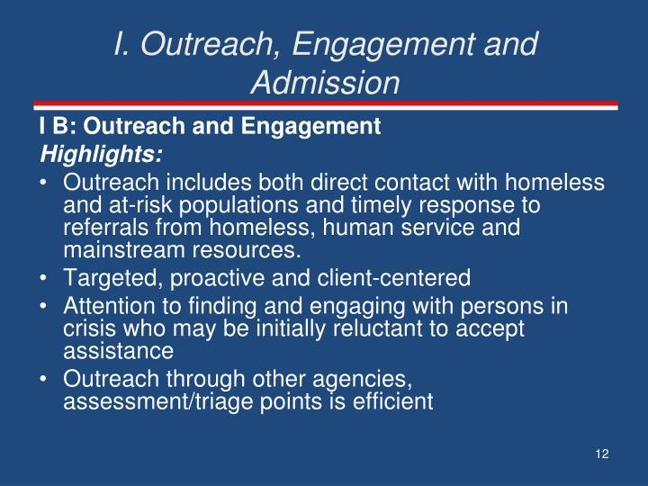 I. Outreach