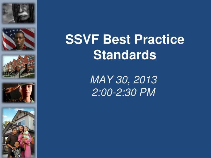 SSVF Best Practice Standards