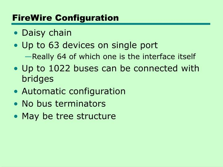 FireWire Configuration