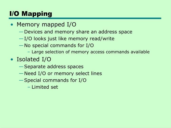 I/O Mapping