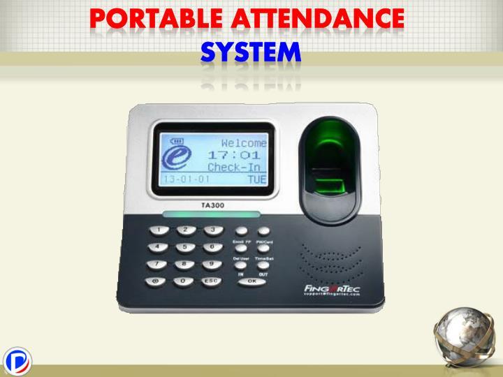 Portable attendance