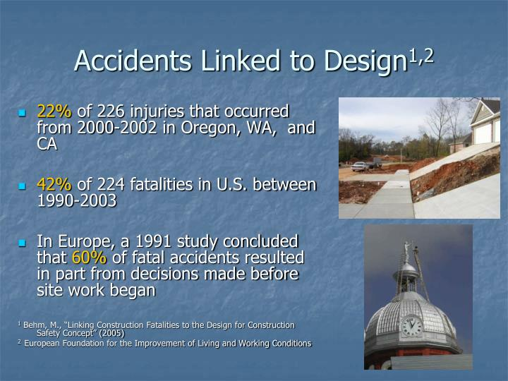 Accidents Linked to Design