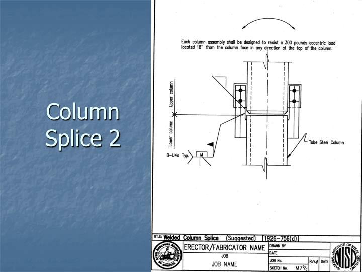 Column Splice 2