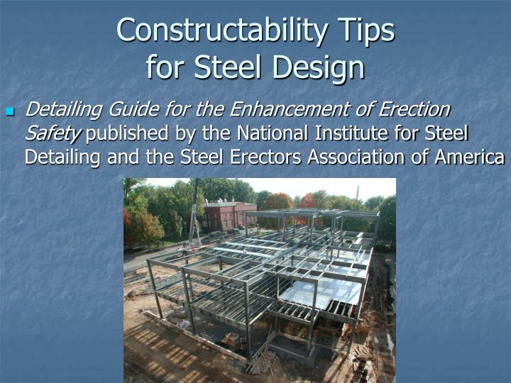 Constructability Tips