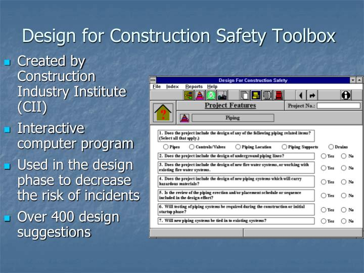 Design for Construction Safety Toolbox