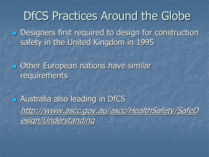 DfCS Practices Around the Globe