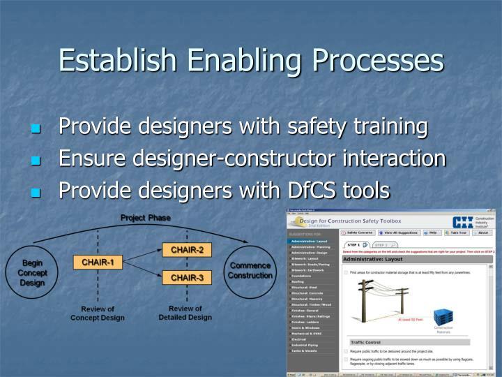 Establish Enabling Processes