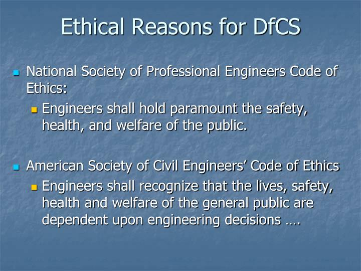 Ethical Reasons for
