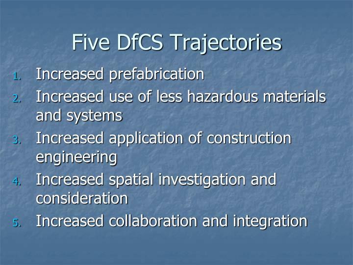 Five DfCS Trajectories